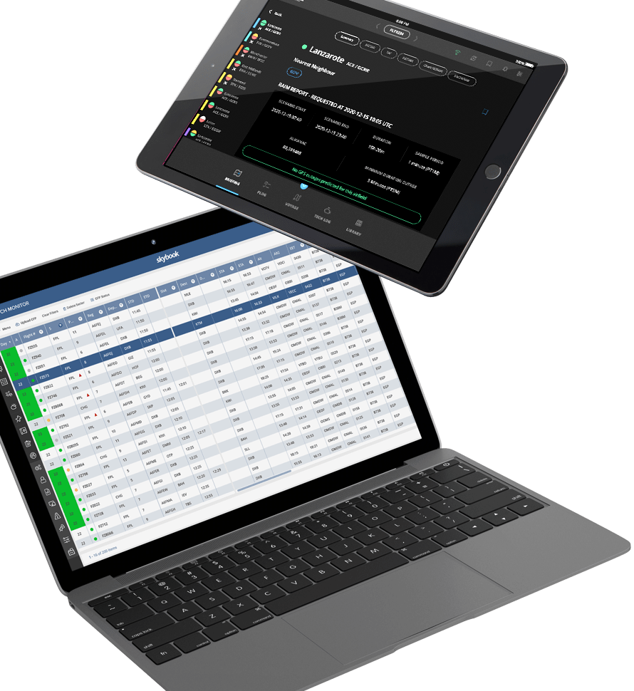 Skybook App & Dispatch Monitor